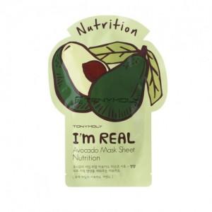 Тканевая маска для питания кожи лица с авокадо I'm Real Avocado Mask Sheet