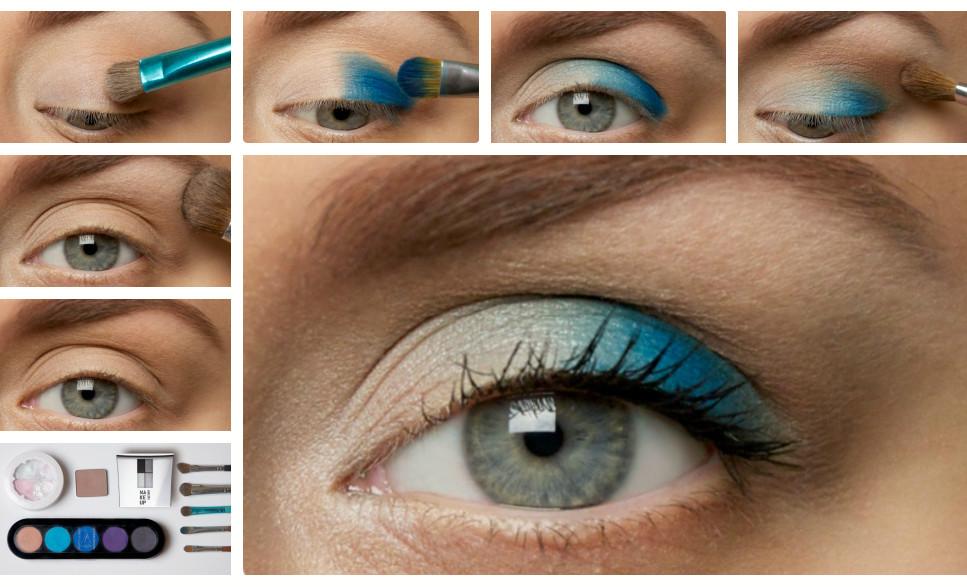 Летний макияж для серых глаз фото