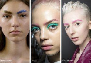 цветные брови тренд 2019